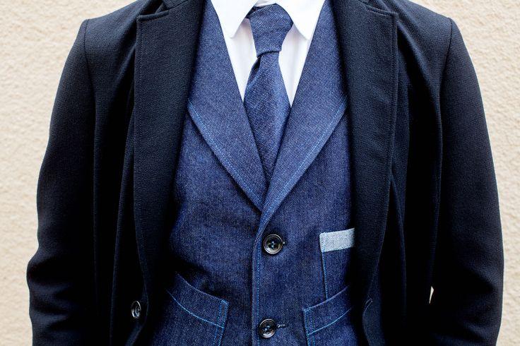 #FRENN Timeless - Lenni #wool #blazer, Axel #shirt and #denim #tie