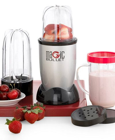 The personal, versatile countertop magician that works like magic. With the Magic Bullet you can chop, mix, blend, whip, grind, and more-all in just 10 seconds or less - for some of the fastest, tasti