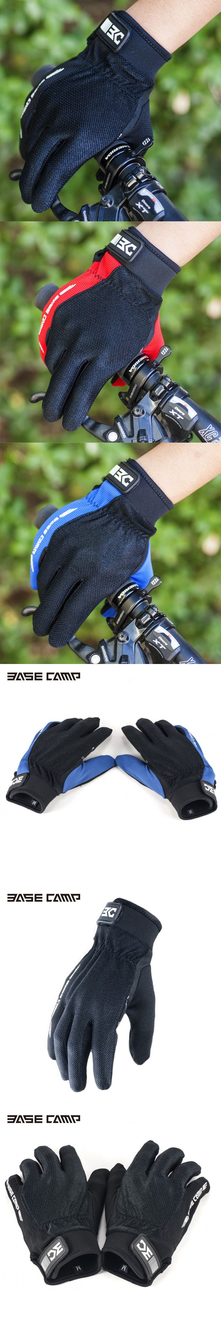 Basecamp New Impermeable Esponja Bicicleta Guantes De Ciclismo 2016 Mujer MTB Bike Full Finger Cycling Gloves Men Woman Luvas
