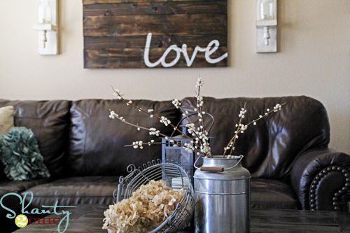 home decor: Wall Art, Wall Decor, Pallets Art, Living Rooms, Decor Ideas, Wood Signs, Love Signs, Reclaimed Wood Wall, Rustic Home