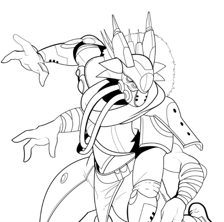 Destiny Ghost Coloring Sheets Pages