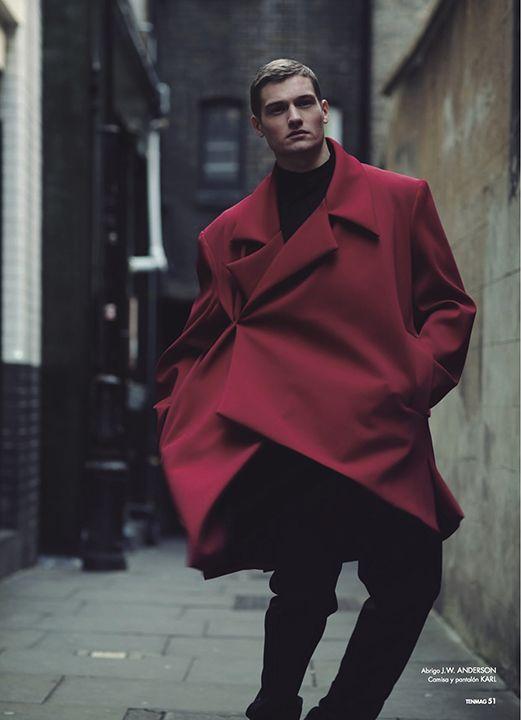 J.W. Anderson cerise coat