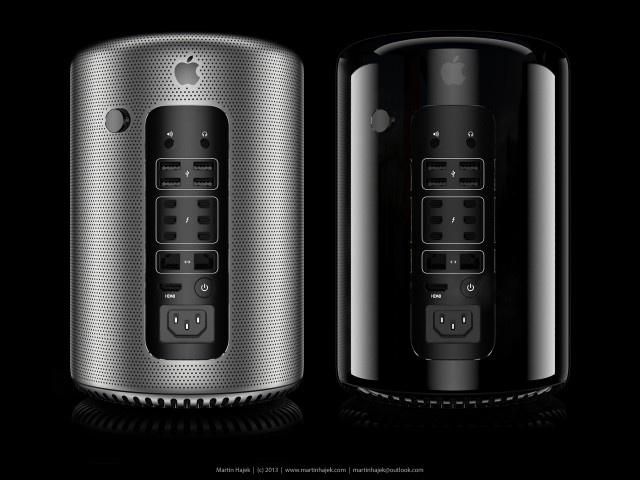Renderings which I made of my new 3D model of the Mac Pro 2013! Also in silver! More info here:  http://www.martinhajek.com/portfolio/apple-mac-pro-2013/ #apple #mac #pro