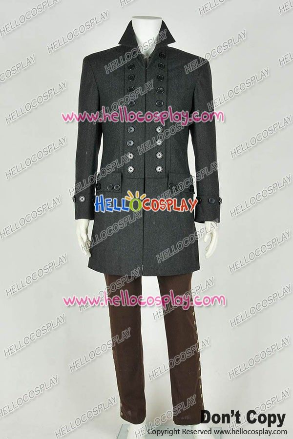 Sleepy Hollow Cosplay Ichabod Crane Costume Whole Set Trench Coat Mens Cool Suit