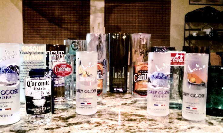17 best images about alcohol bottles on pinterest for Alcohol bottles made into glasses