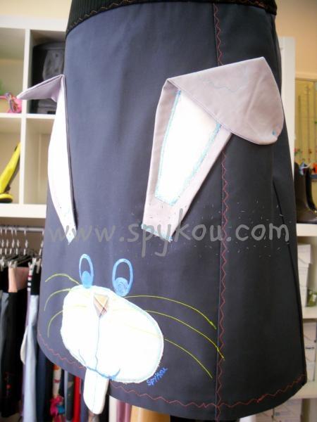 """Χειροποίητη Γυναικεία φούστα """"Κούνελος"""" - Handmade Women's skirt """"Rabbit"""" - www.spykou.com"""