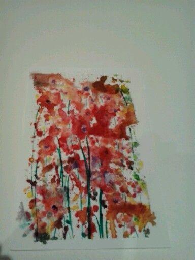 acquerelli  impressioni di fiori