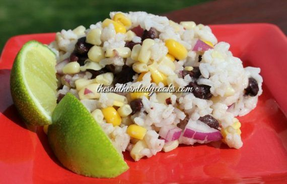 LIME RICE, BLACK BEAN AND CORN SALAD - The Southern Lady Cooks