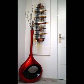 Lack Vase Graval L in Rot
