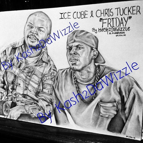 Ice Cube & Chris Tucker #drawing #friday #movies #pencil #portraits #blackart #90s #art #rapper #actor #comedian
