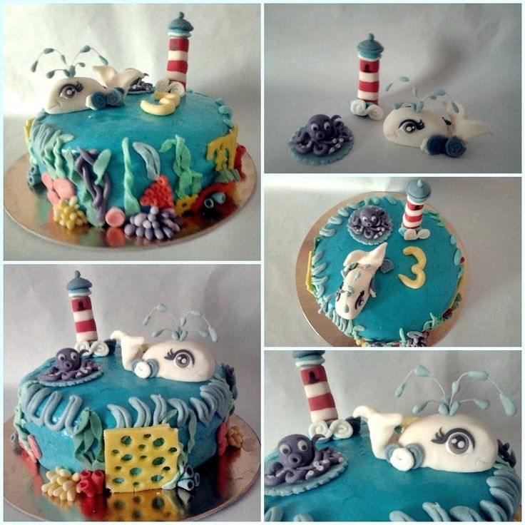 Beluga Whale Diaper Cake
