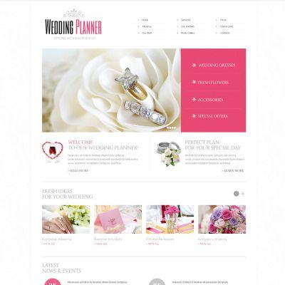 Moto CMS HTML Theme for Wedding Planner Website