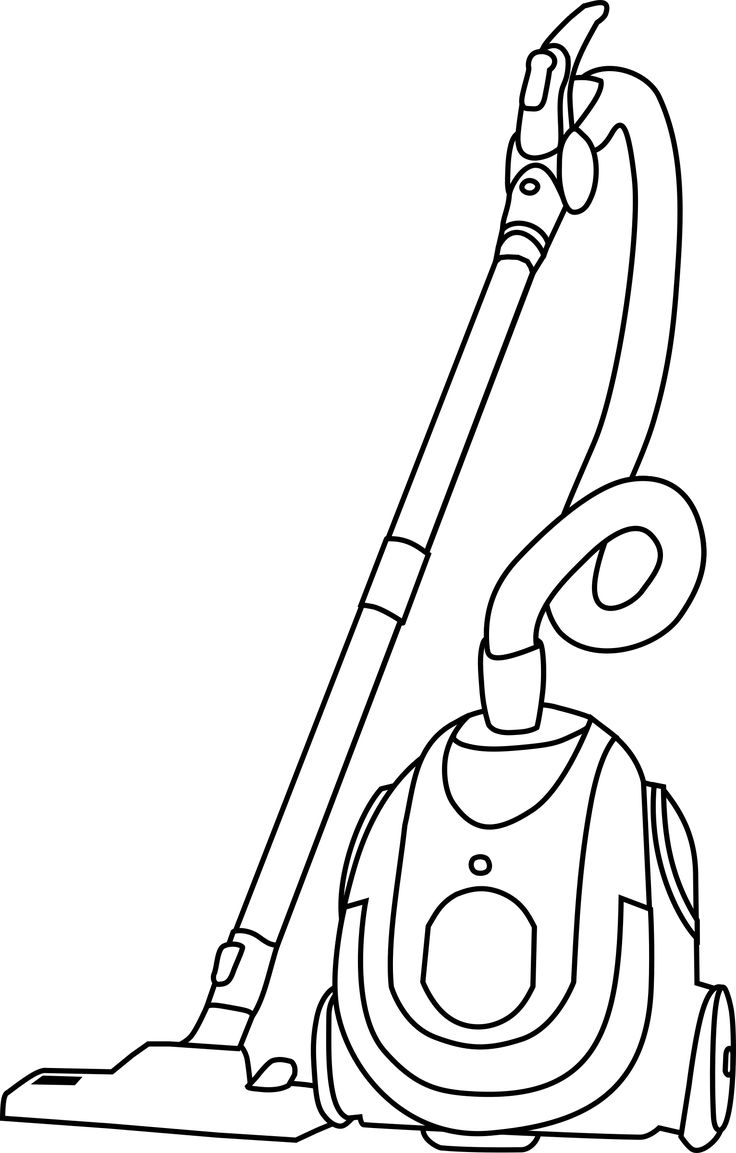 Vacuum cleaner clipart vacuum cleaner clip art - Vacuum Cleaner By Srd Black And White Version Of Machovka Vacuum Cleaner