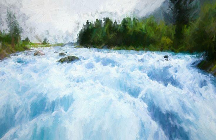River, Una, Land, Landscape, Nature, Water, Waterfall
