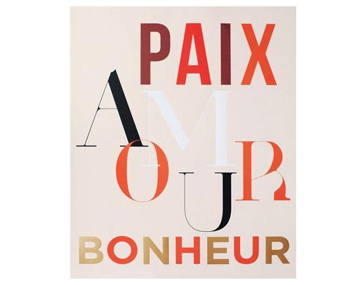 DESIGN PRINT | Paix, Amour, Bonheur means peace, love, happiness. Talking about how to be a Parisian whereever you are.. this looks super good in gold frame! X