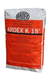 Ardex K-15 Self-Leveling Underlayment Concrete, 55 lb. Bag when you don't want to install a new subfloor. Adding a colored pigment to the mix gives a more modern look.