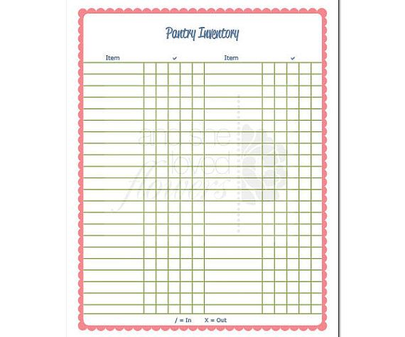 73 best Useful Printables images on Pinterest Printables, Filing - food inventory template