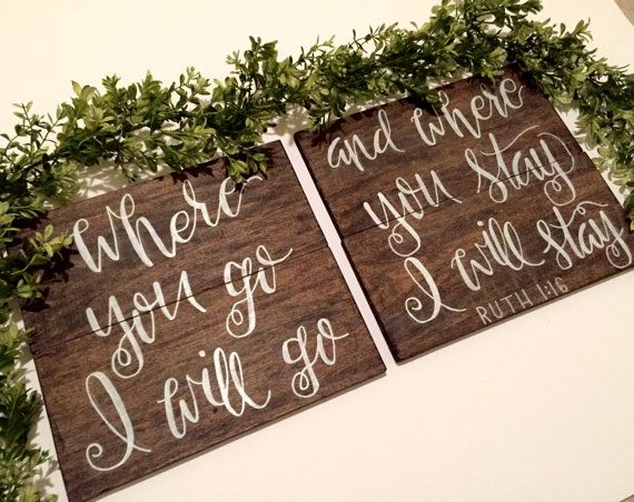 Ruth 1:16 Where you go I will go... Hand by FearfullyMadeCo