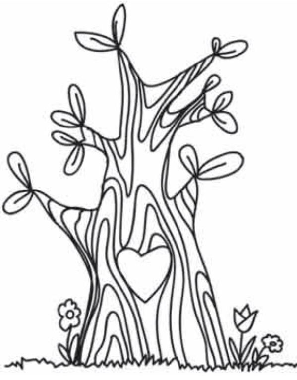 Cute tree template (you can do small children's hand