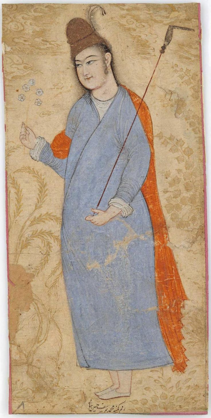 Young Man Standing in Blue Gown Persian, Safavid Period, late 17th century Muhammad Yusuf, Persian, worked 1630s–1660s Islamic World DIMENSIONS 8.4 x 17.7 cm MEDIUM OR TECHNIQUE Paper; painting on paper http://www.mfa.org/collections/object/young-man-standing-in-blue-gown-13917