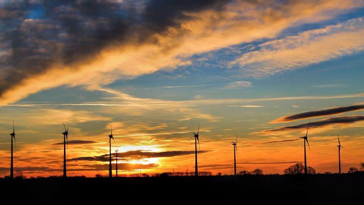 #20 fenchurch street #backlit #clouds #dawn #dramatic #dusk #electricity #energy #evening #industry #landscape #light #morgenstimmung #outdoors #power #silhouette #sky #sun #sunrise #sunset #technology #wind turbine