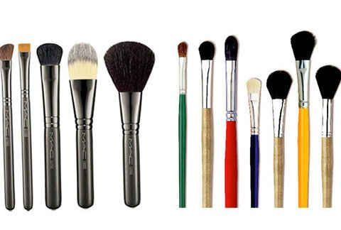 Use paint brushes instead of makeup brushes.   42 Money-Saving Tips Every Makeup Addict Needs To Know