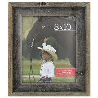 the gray distressed barn wood frame has a shadow box like appearance with clear plexiglas