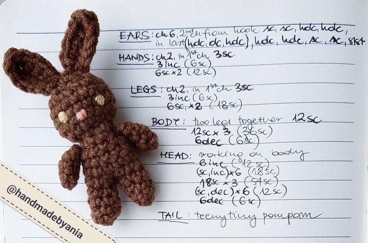 Super cute TEENY TINY BUNNY free crochet pattern