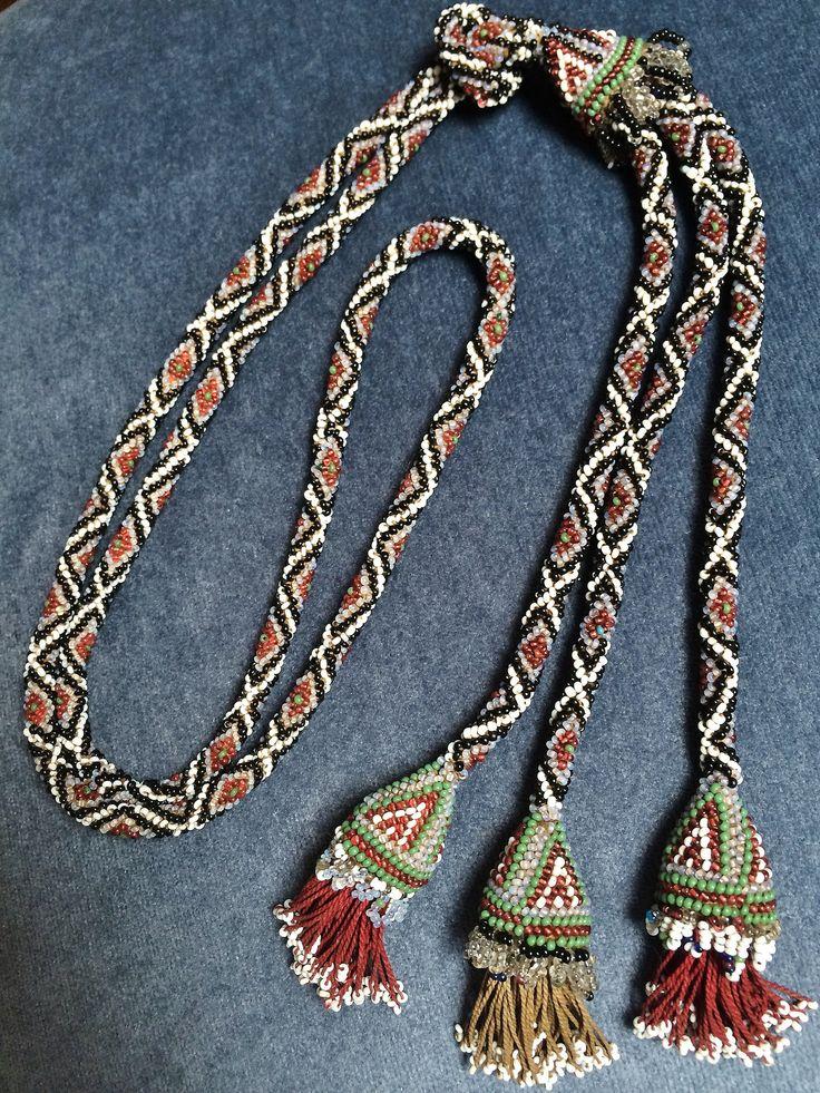 Woman's necklace. Beadwork from the Karakachani (Greek Macedonia). First half of 20th century. (Source: Peter Hoesli).