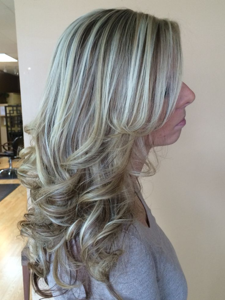 Icy blonde highlight with a warm lowlight   Hair ...