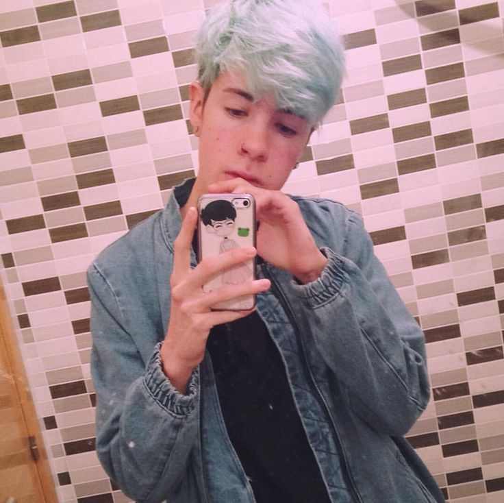 Hairstyles For Short Hair Boys Androgynous Pastel Green Blue Hair Ftm Boy Trans Cute