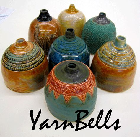YARN BELLS. I want one just because!