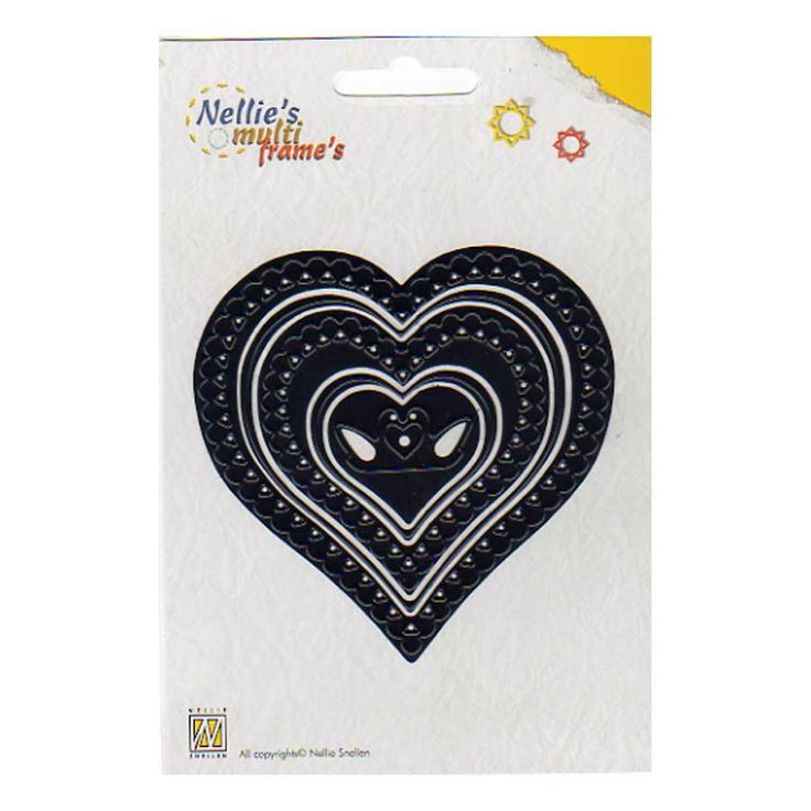 MFD 022 HEARTS and swans NELLIE SNELLEN Multi-frame dies