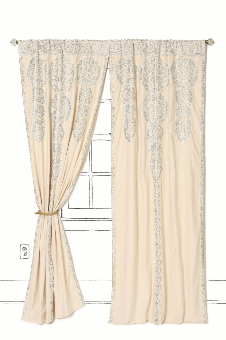 Marrakech Curtain, Silver, Anthropologie.Dreams Bedrooms, Marrakech Curtains, Anthropologie Eu, Spare Room, Living Room, Shower Curtains, Anthropologieeu, Windows Treatments, Extra Bedrooms