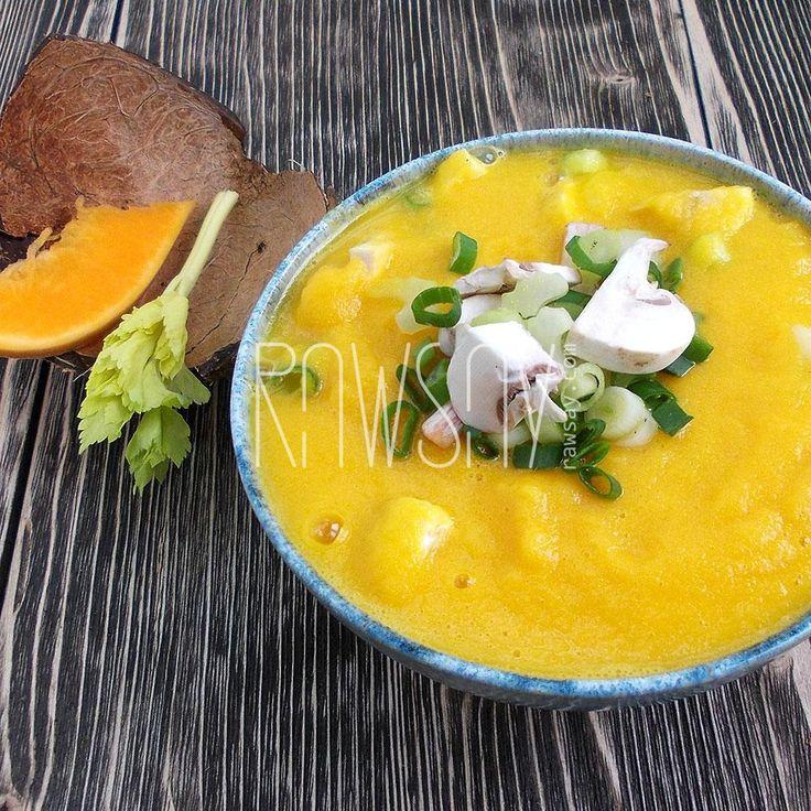 Крем-суп из тыквы - Сыроедение, рецепты и диеты - Rawsay