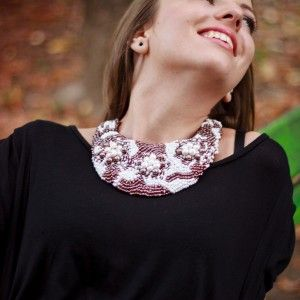 Colier statement cu perle #handmade #pearls #smile