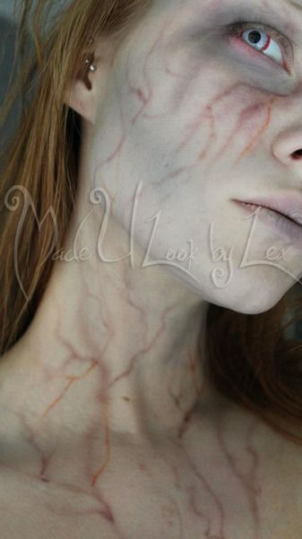 The Virus: Halloween makeup Look make it a little blacker and it could pass for hep v!