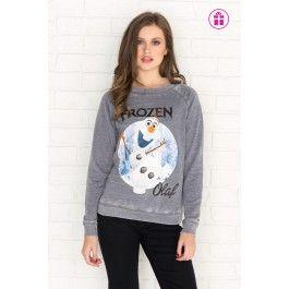Slate grey Olaf graphic sweatshirt