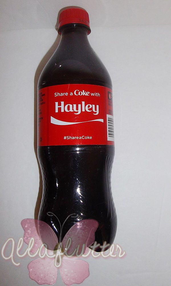 share a coke with hayley collectible plastic bottle coca