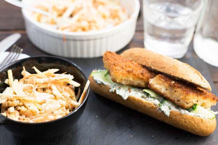 Kabeljauwburgers met koolrabisalade - Koken met Aanbiedingen