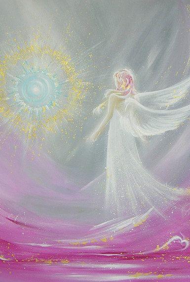Ange limitée art photo « magie de l'ange », ange moderne, peinture, oeuvre, idéal aussi pour cadre photo, cadeau, spirituel, magique, mystique