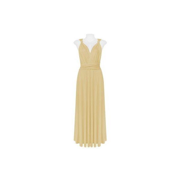 Beige Infinite Ways Dress via Polyvore featuring dresses, night out dresses, party dresses, beige dress, beige party dress and tube dress