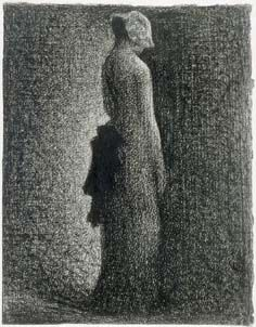 One of my favorite seurat works. Done in conte crayon