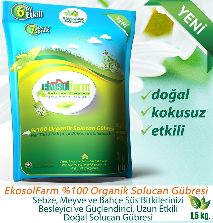 EkosolFarm Organik Solucan Gübresi 1,5 KG