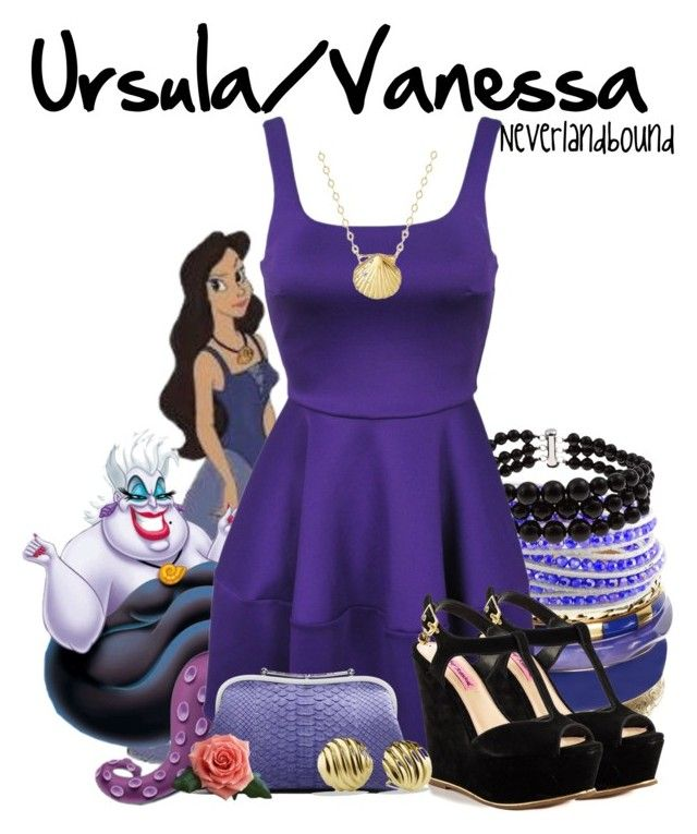 Ursula/Vanessa ~Neverlandbound by gallifreyangryffindor on Polyvore featuring polyvore, fashion, style, Camilla and Marc, Betsey Johnson, Pearlz Ocean, Monsoon, Miadora, David Yurman, Reeds Jewelers, Asprey, Disney, clothing, neverlandbound and neverlanddisney