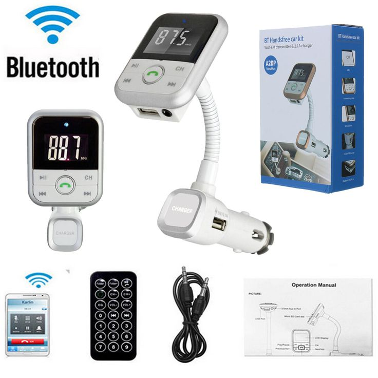 Bluetooth Handsfree Car Kit LCD Screen FM Transmitter USB Charger MP3+ Remote
