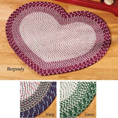 Braided Heart Accent Rug