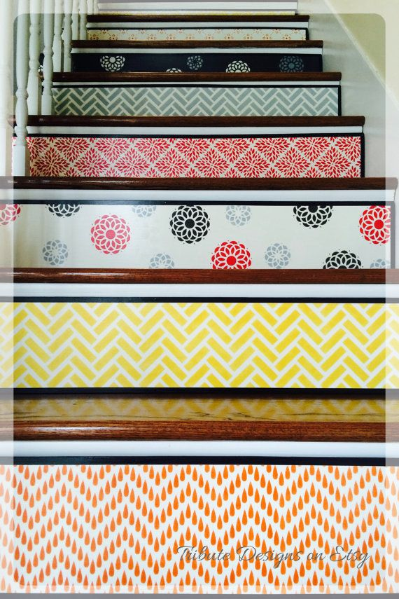 Alternative to Stair Riser Decals Stair Stencils by TributeDesigns