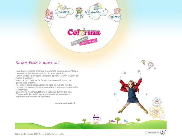 Web design for coloruza.ro - mural services for children.