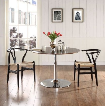 Black Amish Dining Armchair, 2-Set by LexMod